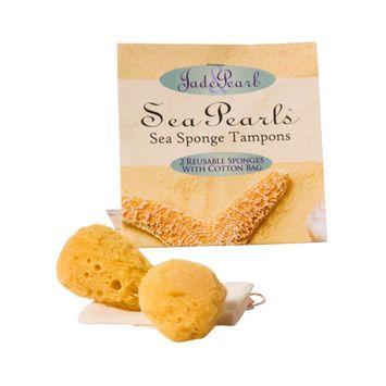 Jade & Pearl Sea Sponge Tampons