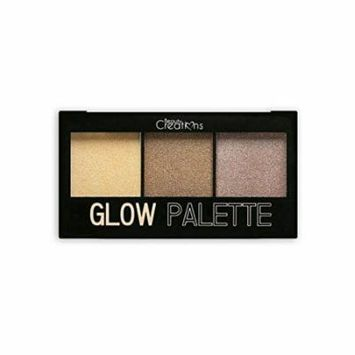 beauty creations glow highlighter trio palette