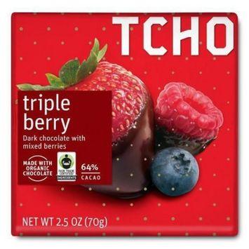 TCHO Triple Berry Dark Chocolate - 2.5oz