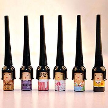 Msmask Liquid Eyeliner Cute Doll Cosmetic Waterproof Black Elastic Waterproof Gift