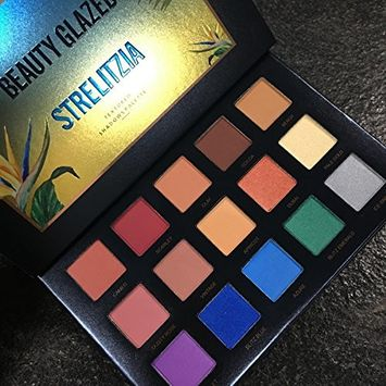 Beauty Glazed Pressed Glitter Eyeshadow Palettes Heart Shade 15 Colors Highly Pigmented Mineral Foiled Long-Lasting Shimmer Powder Eye Shadow Palette Waterproof Flash Shimmer Makeup Powder