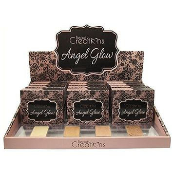 BEAUTY CREATIONS Angel Glow Highlight Palette Display Set, 12 Pieces plus Testers