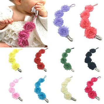 Baby Pacifier Chain Clip, Iuhan Baby Pacifier Chain Clip Holder Nursing Teether Dummy Soother Nipple Leash Strap
