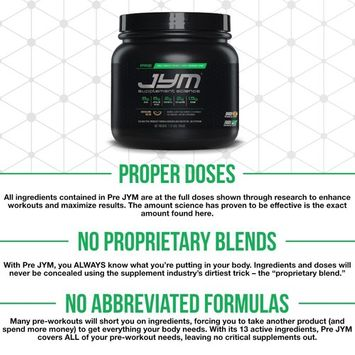 JYM Supplement Science, PRE JYM, Pre-Workout with BCAA's, Creatine HCI, Citrulline Malate, Beta-alanine, Betaine, Alpha-GPC, Beet Root Extract and more, Kiwi Strawberry, 30 Servings [Strawberry Kiwi]