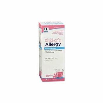 6 Pack Quality Choice Childrens Allergy Liquid HCI 12.5mg Bubblegum 4oz Each