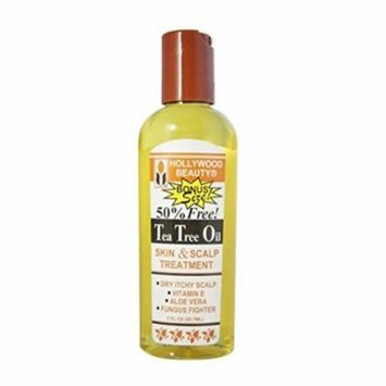 Hollywood Beauty Tea Tree Oil Skin and Scalp Treatment, 2 oz Pack of 4