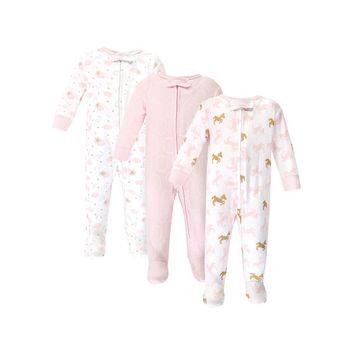 Zipper Sleep N Play, 3pk (Baby Girls) [name: actual_color value: actual_color-unicorn]