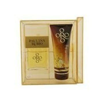 ORO BY PAULINA RUBIO by Paulina Rubio Gift Set for WOMEN: EAU DE PARFUM SPRAY 3.4 OZ & SHIMMERING BODY LOTION 6.7 OZ
