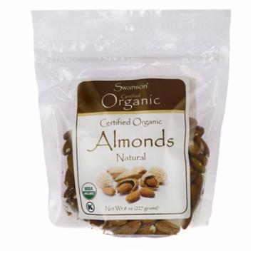 Swanson Certified Organic Almonds 8 oz (227 g) Pkg
