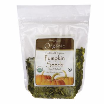 Swanson Certified Organic Pumpkin Seeds Raw, Shelled 12 oz (340 g) Pkg