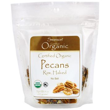 Swanson Certified Organic Pecans Raw, Halved No Salt 5 Ounce (142 g) Pkg