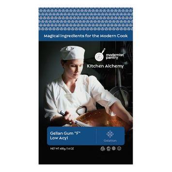 Pure Gellan Gum F - Low Acyl (Molecular Gastronomy) ⊘ Non-GMO ☮ Vegan ✡ OU Kosher Certified - 400g/14oz