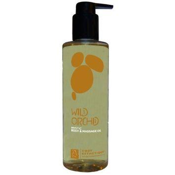 Body Esthetique Wild Orchid Body & Massage Oil 8 Fl. Oz.