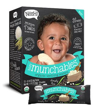 Nosh Baby Munchables Organic Teething Wafers - Simply Rice