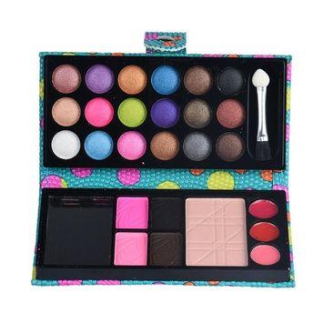 Exteren 26Colors Eye Shadow Makeup Palette Cosmetic Eyeshadow Blush Lip Gloss Powder