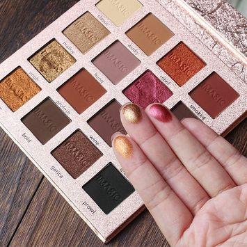 Exteren 16 Color Shimmer Glitter Eye Shadow Powder Matt Eyeshadow Cosmetic Makeup