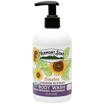 Vermont Soap USDA Certified Organic Lavender Ecstasy Body Wash 12 oz
