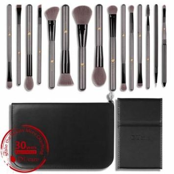 DUcare Mom's Pro 15Pcs Makeup Brush Set with Mirror and Bag