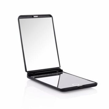 Led Mirror for Makeup, DUcare Portable Vanity Mirror Led Lighted Lights 8 1X & 2X Magnification Hand Mirror 180 Degree Free Rotation Cosmetic Travel Mirror