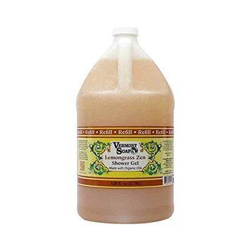 Vermont Soap Organic Bath and Shower Gel - Lemongrass Zen - Gallon