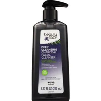 Beauty 360 Deep Cleansing Charcoal Facial Cleanser, 6.77 OZ
