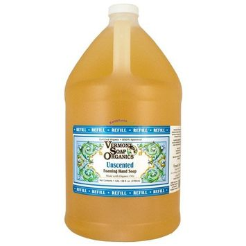 Vermont Soap Organic Bath and Shower Gel - Unscented - Gallon Refill