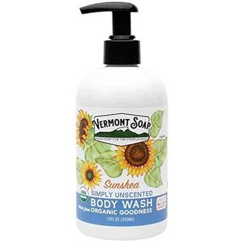 Vermont Soap USDA Certified Organic Simply Unscented Body Wash 12 oz