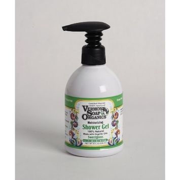 Vermont Soap Organics - High Moisturizing Sweetgrass Shea Bath and Shower Gel 8oz