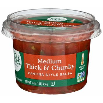 Whole Foods Market, Medium Thick & Chunky, Cantina Style Salsa, 16 oz