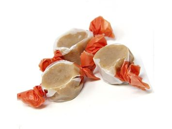 Beulah's Candyland Pumpkin Spice Caramels 2 pounds bulk wrapped candy
