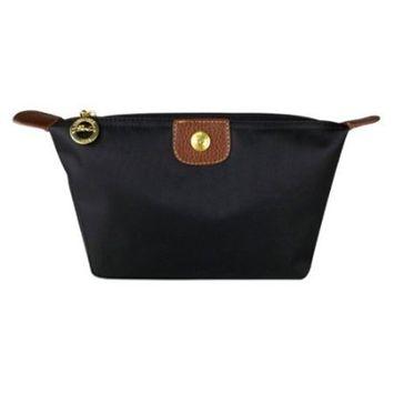 Bestrice Cosmetic Bag Portable Travel Makeup Bag Black [Black]