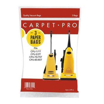 Carpet Pro CPP-3 Paper Vacuum Bags, 3-Pack