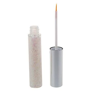 SODIAL(R) Bling Bling Glitter Liquid for Lipstick / Eyeshadow / Eyeliner Shimmer Makeup Sparky Party Stage Makeup, White