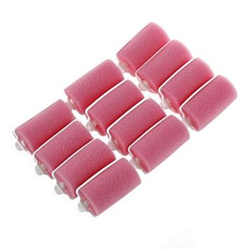 FTXJ 12 Pcs Magic Sponge Foam Cushion Hair Styling Rollers Curlers Twist Tools Witty