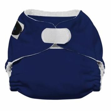 Imagine Baby Products Newborn All in One Stay Dry Diaper, H&L, Navy Fleet