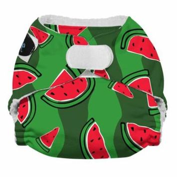 Imagine Baby Products Newborn All in One Stay Dry Diaper, H&L, Watermelon Patch