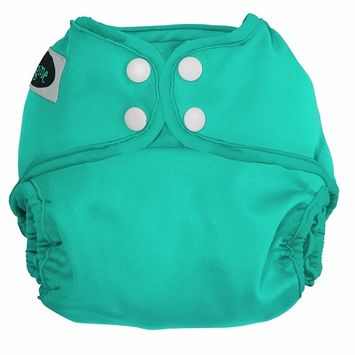 Imagine Baby Products One Size Cloth Diaper Cover, Snap, Aquamarine