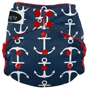 Imagine Baby Products Stay Dry All-In-One Snap Diaper, Overboard