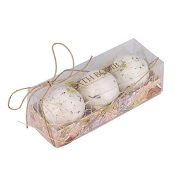 Hunputa Lavender Bath Bombs Ultra Lush Essential Oil Handmade Spa Fizzies- Best Gift Idea - Highest Quality Ingredients and Shea Butter for Moisturizing Dry Skin