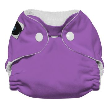 Imagine Baby Products Newborn All in One Stay Dry Diaper, Snap, Amethyst