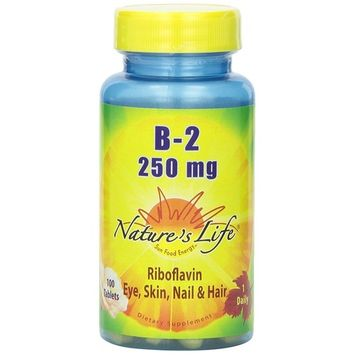 Nature's Life B-2 Tablets, 250 Mg, 100 Count