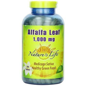 Nature's Life Alfalfa Leaf Tablets - 500 ct (Pack of 2)