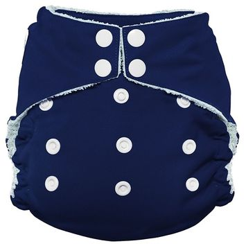 Imagine Baby Products Bamboo AIO 2.0 Diaper, H&L, Navy Fleet