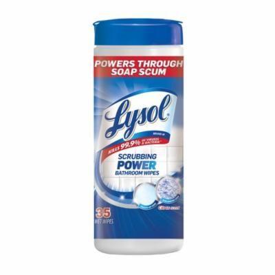 Lysol Scrubbing Power Bathroom Disinfectant Wipes, Citrus, 35ct