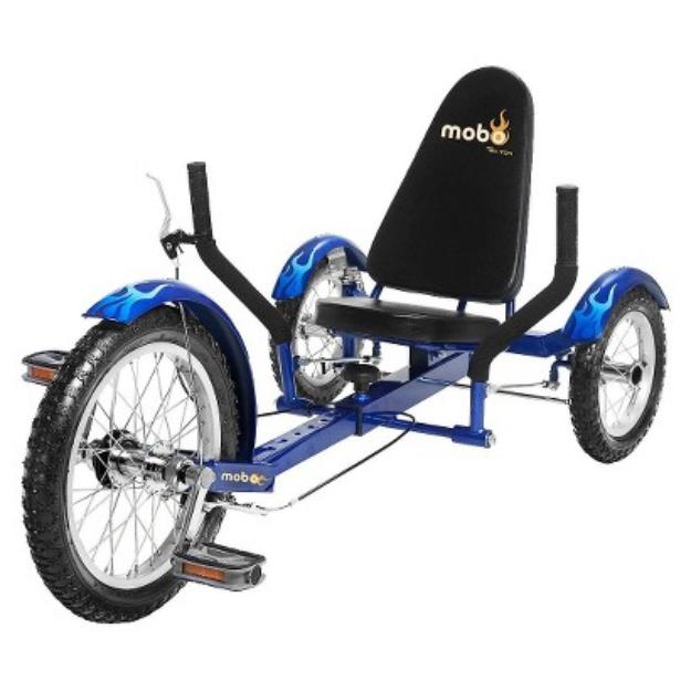 "Mobo Triton Ultimate Three-Wheeled Cruiser 16"" Blue"