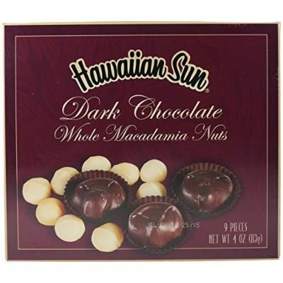 Dark Chocolate Covered Whole Macadamia Nuts, 4 Ounce
