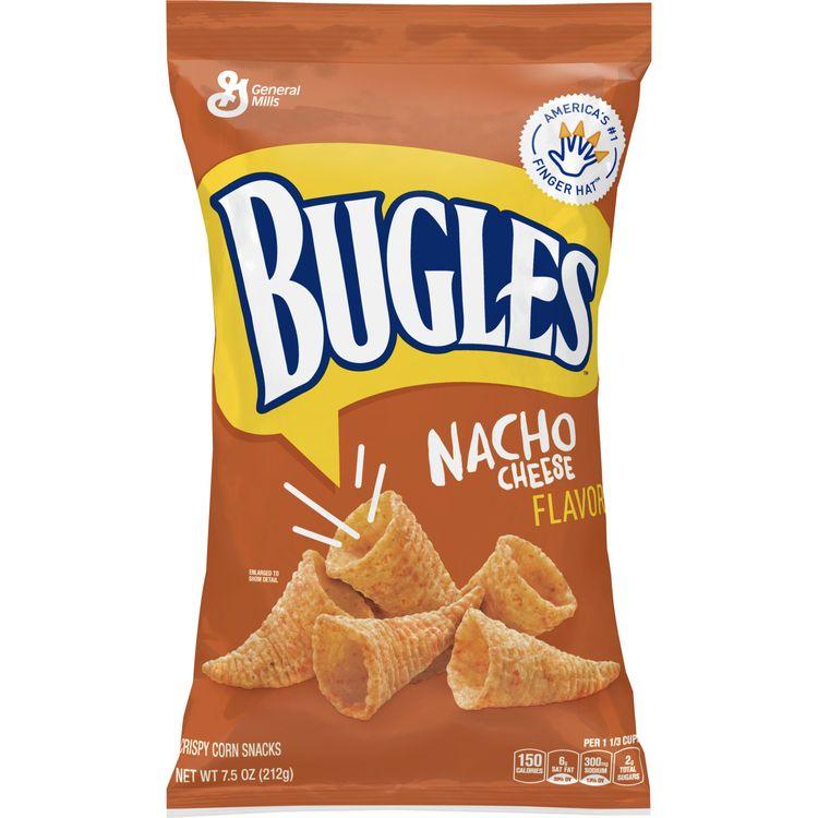 Bugles Nacho Cheese Crispy Corn Snacks