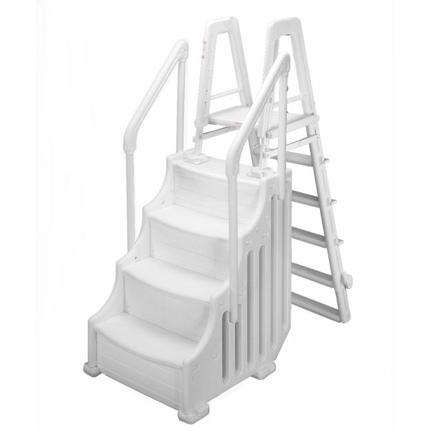 """Swim Time 24"""" Above Ground Simple Step with Outside Ladder"""