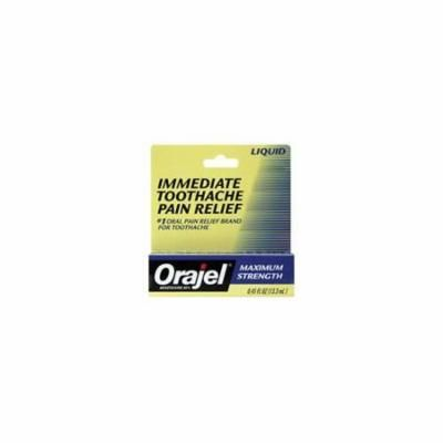 5 Pack - Orajel Liquid Oral Pain reliever Max Strength for Toothache 0.45oz Each