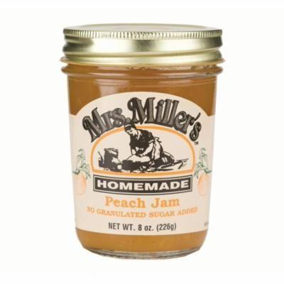 Mrs. Miller's No Sugar Peach Jam 8 oz. (3 Jars)